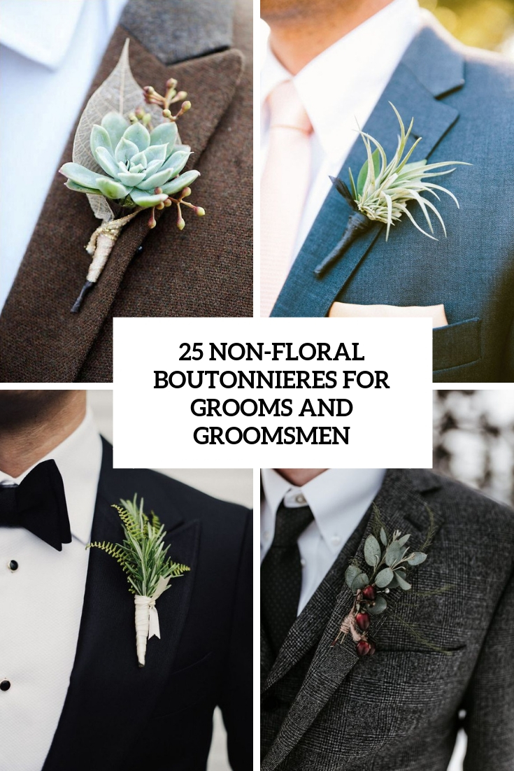 25 Non-Floral Boutonnieres For Grooms And Groomsmen