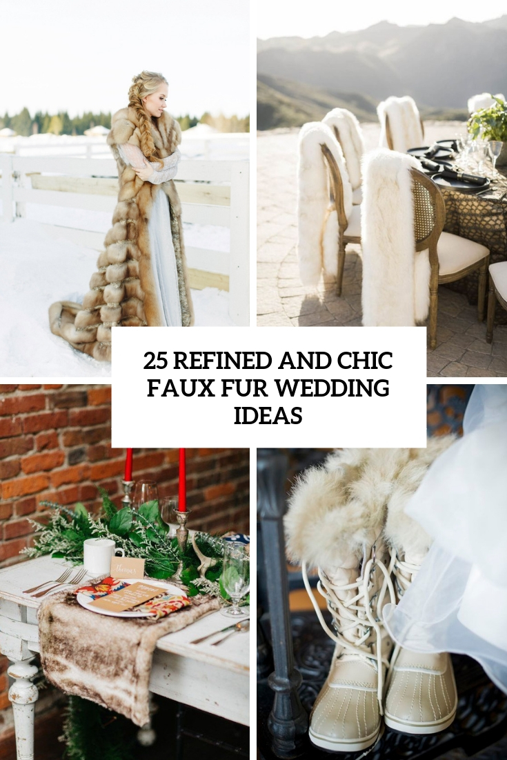 refined and chic faux fur wedding ideas cover
