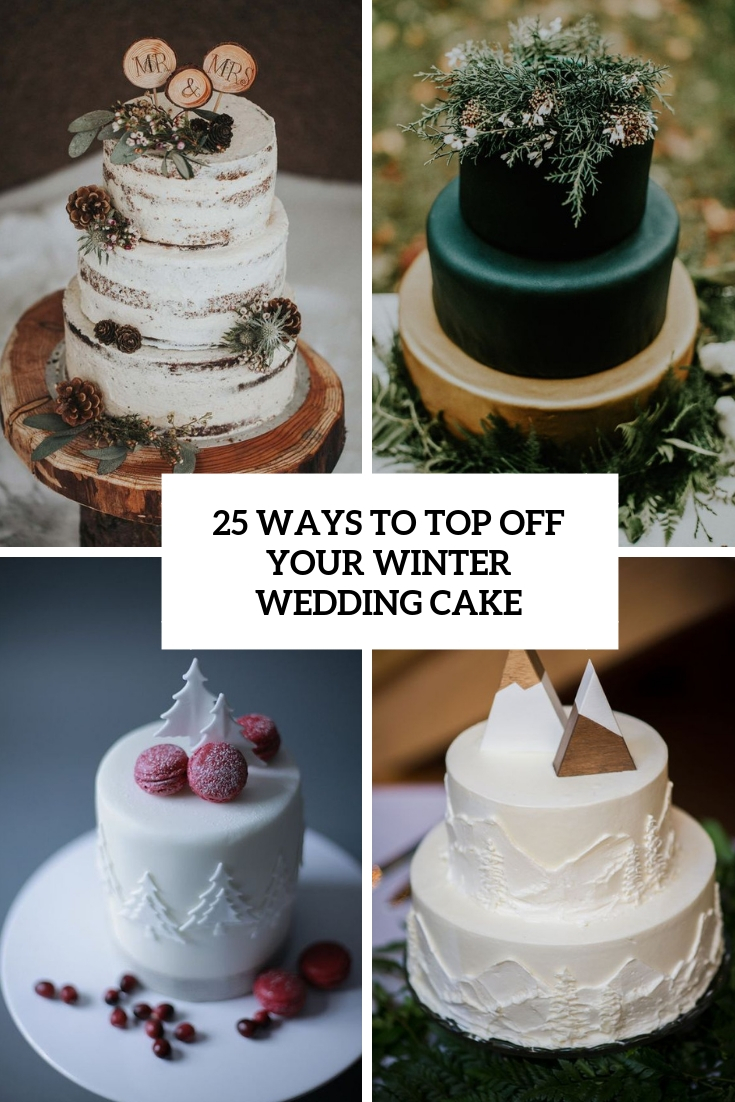 ways to top off your winter wedding cake cover