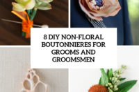 8 diy non-floral boutonnieres for grooms and groomsmen cover
