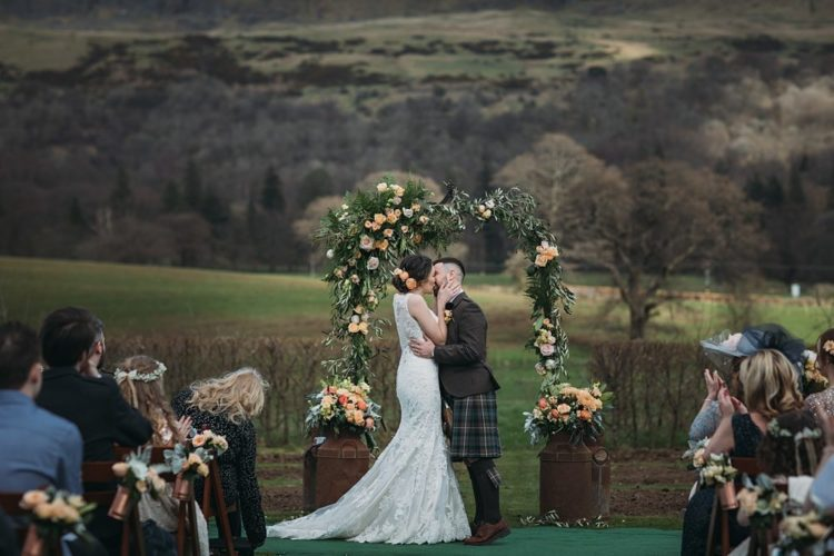 Rustic Scottish Wedding With Blush Touches