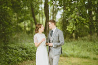 01 This summertime barn wedding was inspired by Scandinavian weddings with a rustic feel