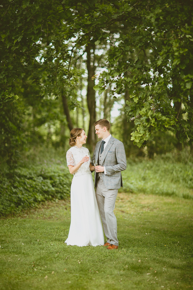 This summertime barn wedding was inspired by Scandinavian weddings with a rustic feel