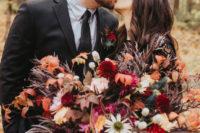 01 This wedding shoot is a fresh and modern take on Halloween weddings, stylish, elegant and moody