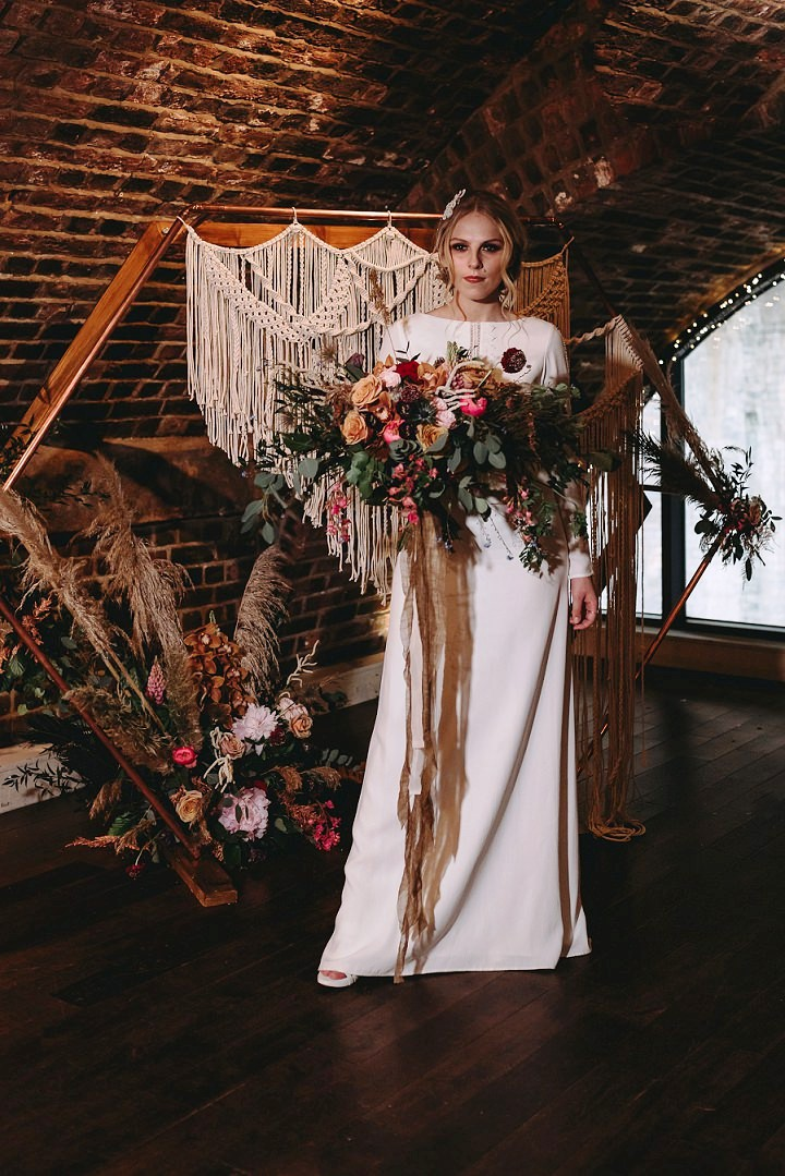 Perfectly Styled Boho Industrial Wedding Shoot