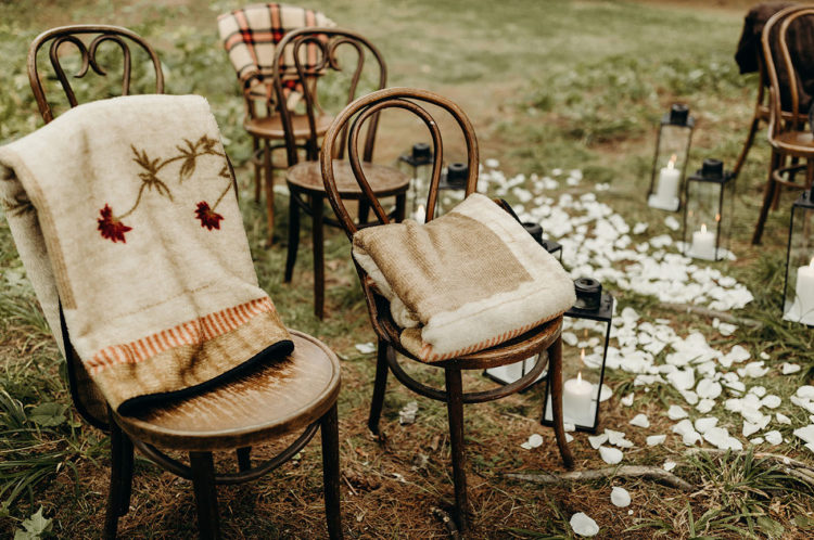 The chairs were mismatching and with blankets to make the families feel comfortable