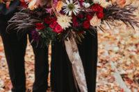 moody oversized bouquet