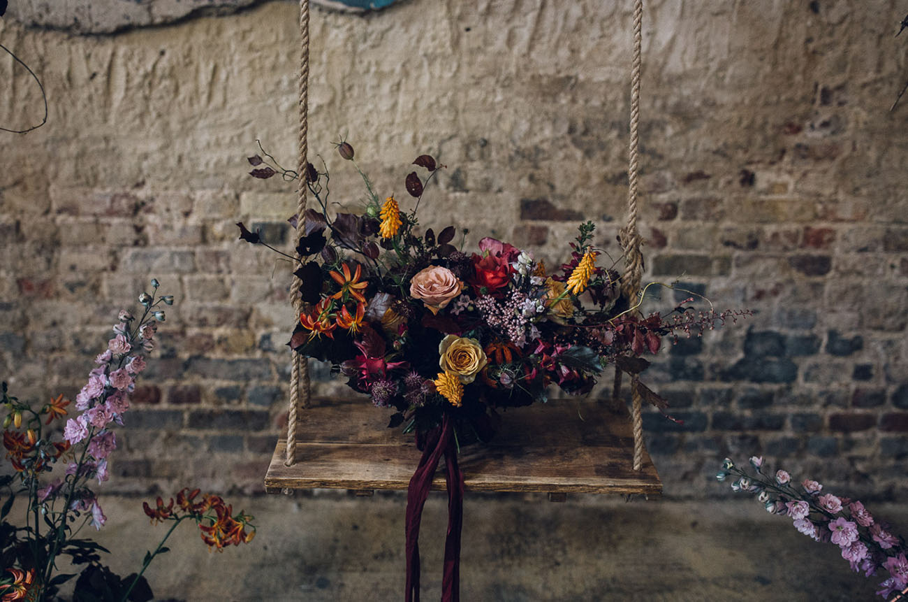 autumn wedding boquet