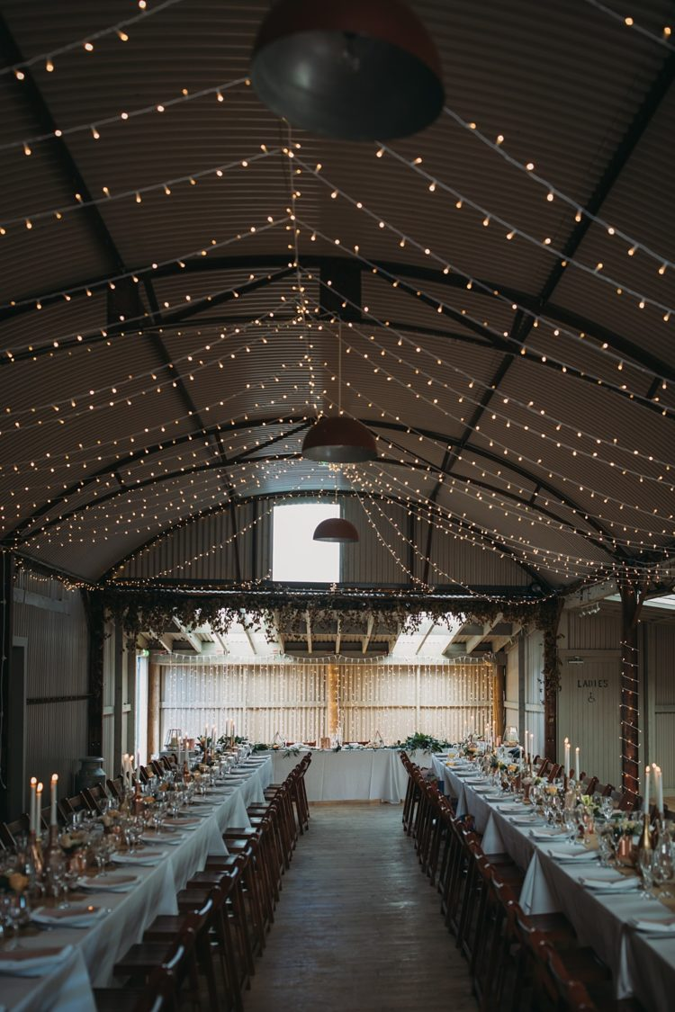 The whole venue was illuminated with lights hanging as a canopy above