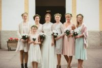 pastel bridesmaids outfits