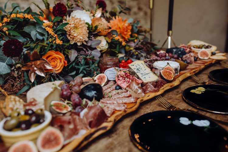 There was a rich grazing board served for the wedding, this is a hot trend