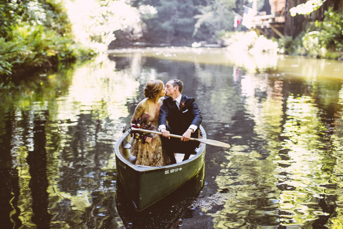 The couple went for some portraits in a boat in the river