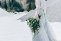 modern bridal look for winter