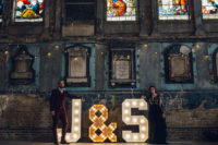 11 The oversized marquee letters J and S are right what you need for such a wedding
