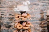 donuts are great for wedding dessert towers