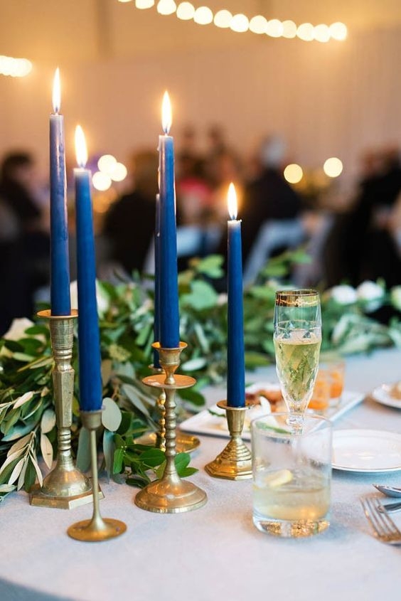gold candle holders are amazing for any wedding tablescape in any season, this is classics that always works, whatever your style is