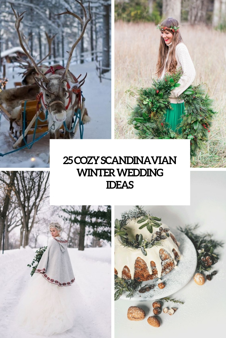 cozy scandinavian winter wedding ideas cover