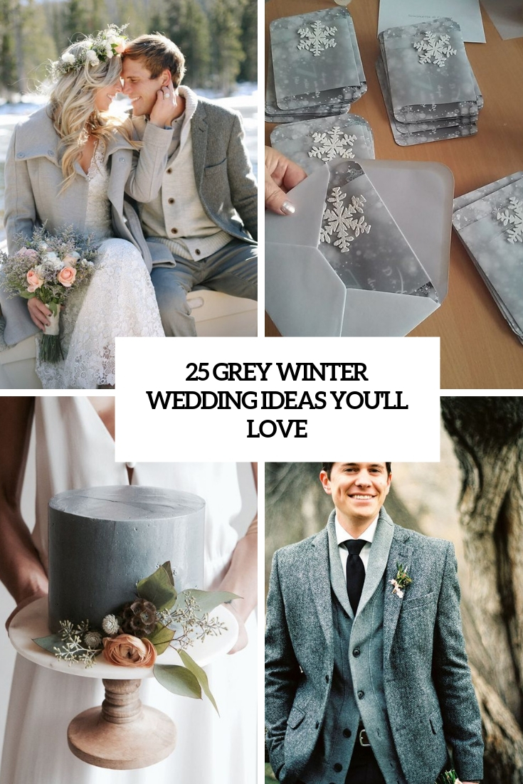 grey winter wedding ideas you'll love cover