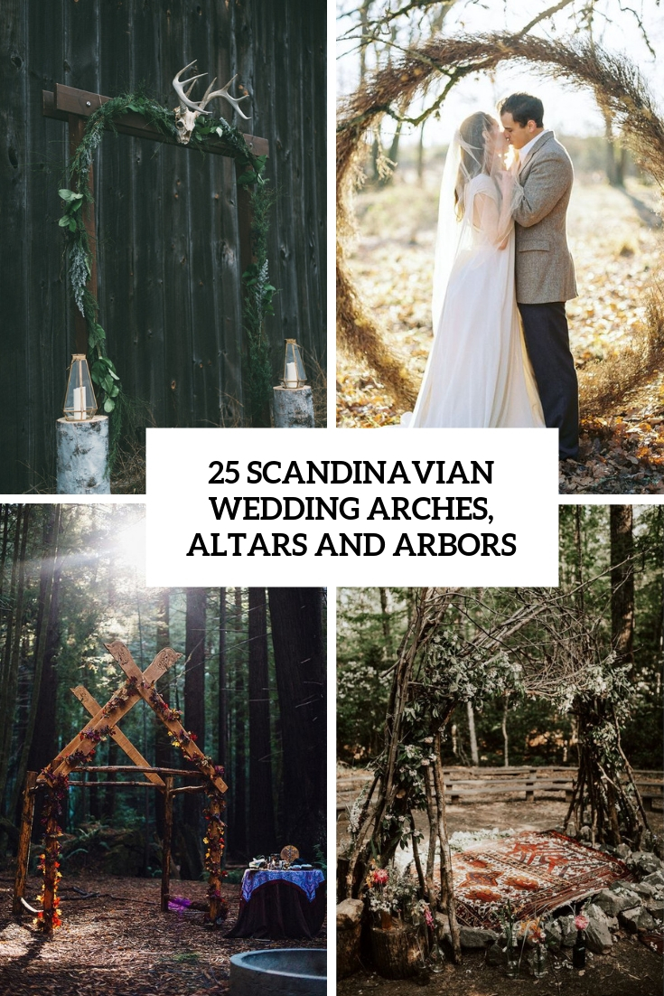 scandinavian wedding arches, altars and arbors cover