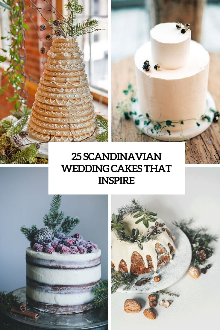 25 Scandinavian Wedding Cakes That Inspire