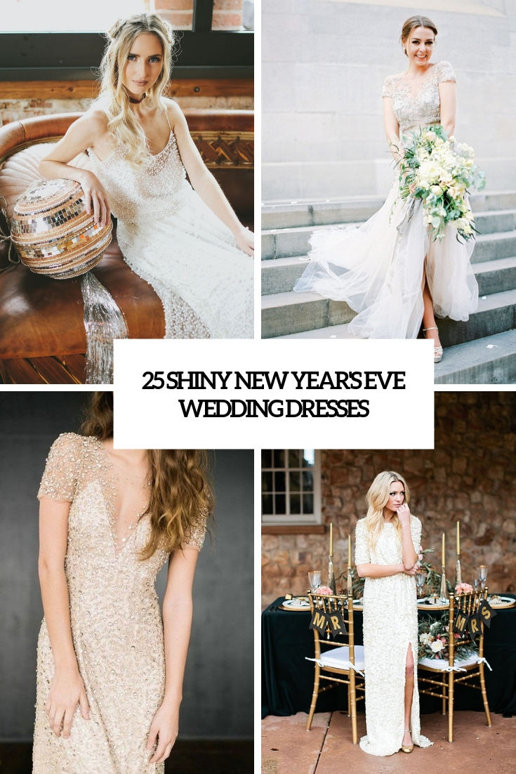 shiny new year's eve wedding dresses cover