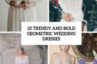 25 trendy and bold geometric wedding dresses cover