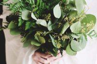 creative fern winter bouquet