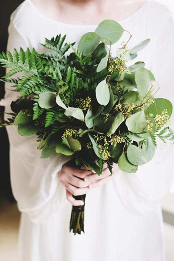 creative fern winter bouquet