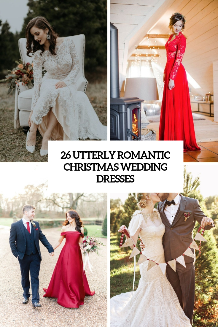 utterly romantic christmas wedding dresses cover