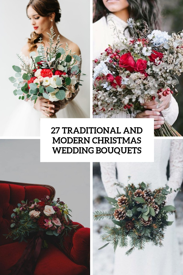 27 Traditional And Modern Christmas Wedding Bouquets