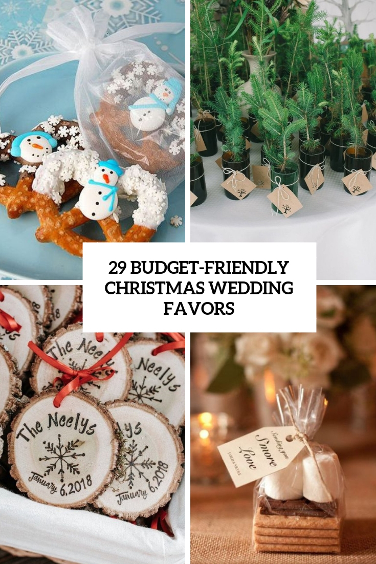 budget friendly christmas wedding favors cover