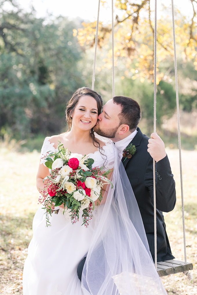 Rustic Christmas Wedding With A 1984 Wedding Dress