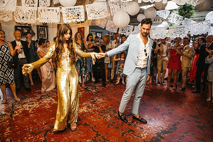 This couple wanted a glam and fun wedding in Hackney and they went for many unusual solutions