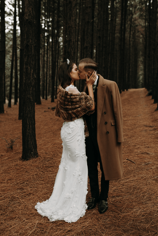 Moody And Romantic Fall Wedding In The Woods