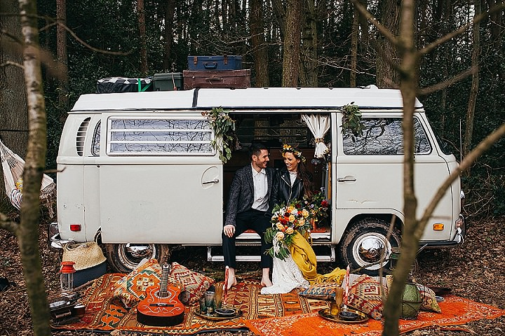 Earthy Woodstock Hippie Wedding Shoot