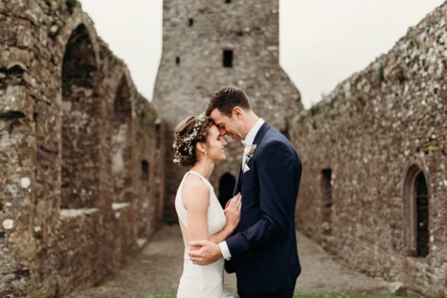This wedding took place in Ireland, in groom's homeland and the guests came from around the world