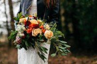 stylish autumnal wedding bouquet