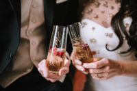 06 Personalized champagne flutes were created for the shoot
