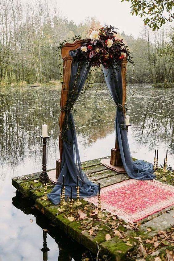 soft gothic arch for a wedding