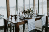 07 simple linens, candles and neutral porcelain and blooms are great for decorating a reception table with a hygge feel