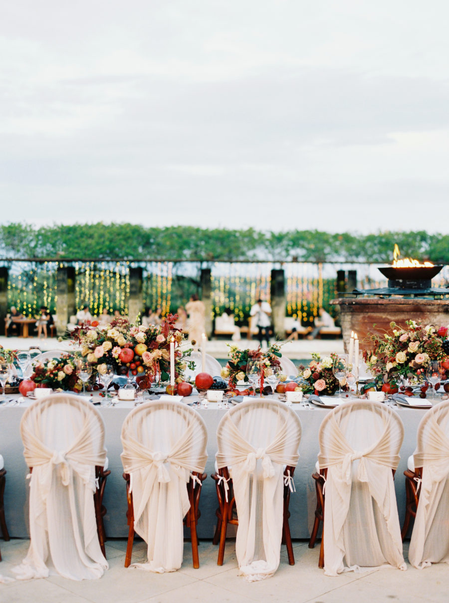 The whole wedding was very elegant, refined and chic, with many custom made details