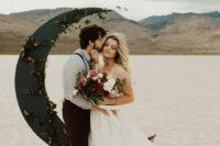 creative wedding arch is always a great idea