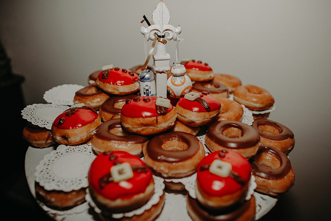 Christmas glazed donuts were a trendy substitute to a Christmas cake