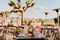 11 The reception was desert, boho and eclectic at the same time