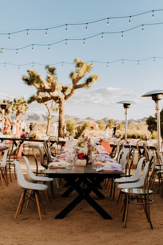The reception was desert, boho and eclectic at the same time