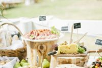 25 a wedding grazing table is a hot catering trend and will be ideal for a Mediterranean wedding, too