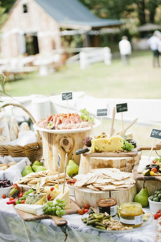 a wedding grazing table is a hot catering trend and will be ideal for a Mediterranean wedding, too