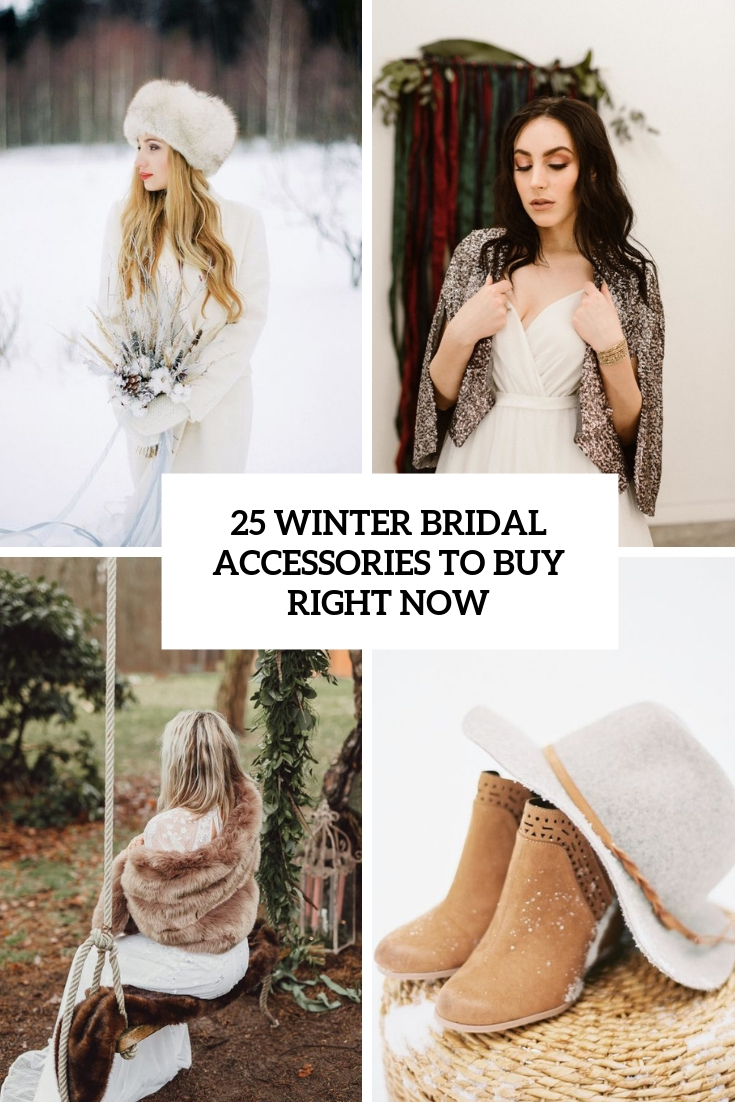 winter bridal accessories to buy right now cover