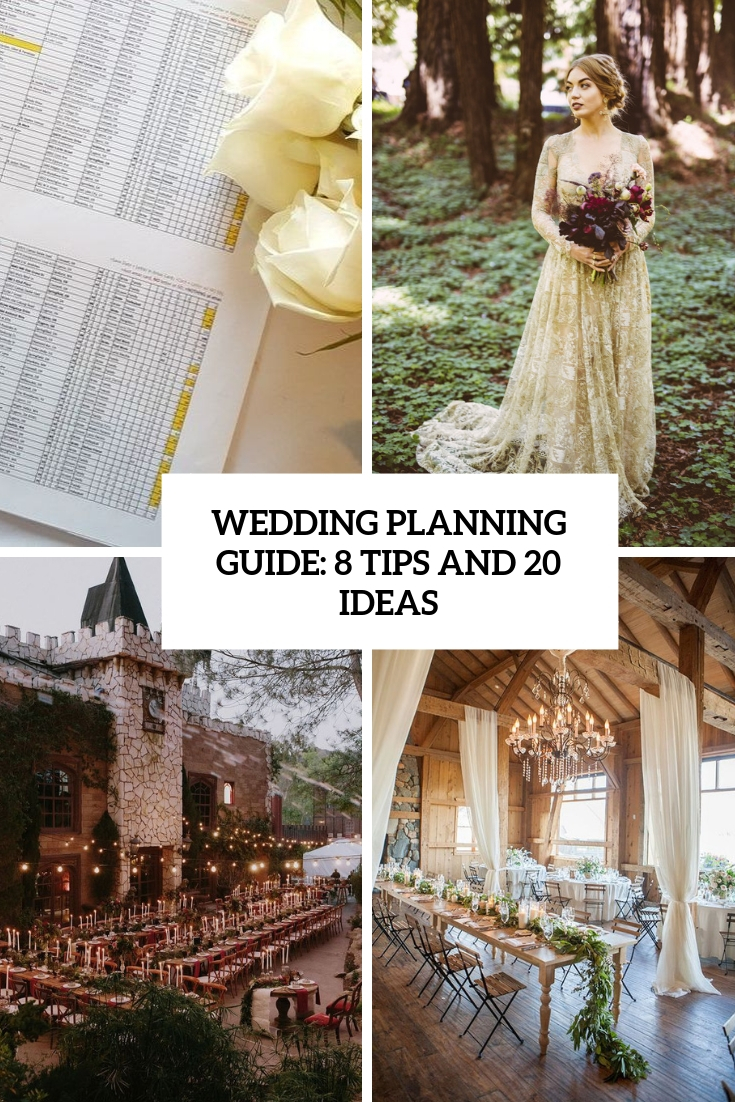 wedding planning guide 8 tips and 20 ideas cover
