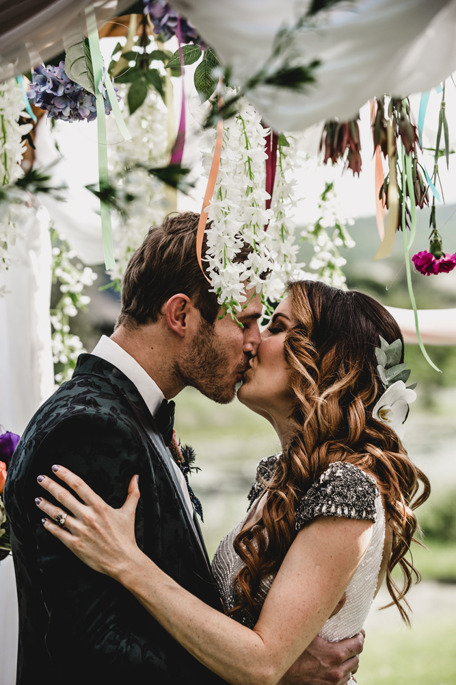 This Irish couple went for a South African wedding with festival vibes and lush florals